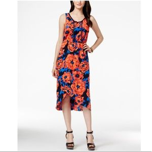Tommy Hilfiger Tulip Hem Floral Midi Dress